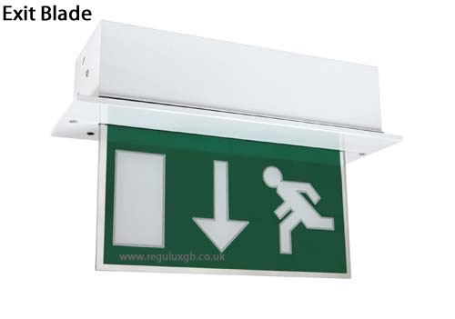 Emergency Lighting - Exit Blade Sign
