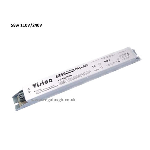 58w Electronic Ballasts Available in 240V and 110V