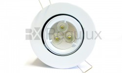 Lock Ring Tilt Diecast Aluminium Fire Rated Downlight