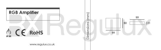 RX-RGB-AMP. RGB Amplifier Dimensions