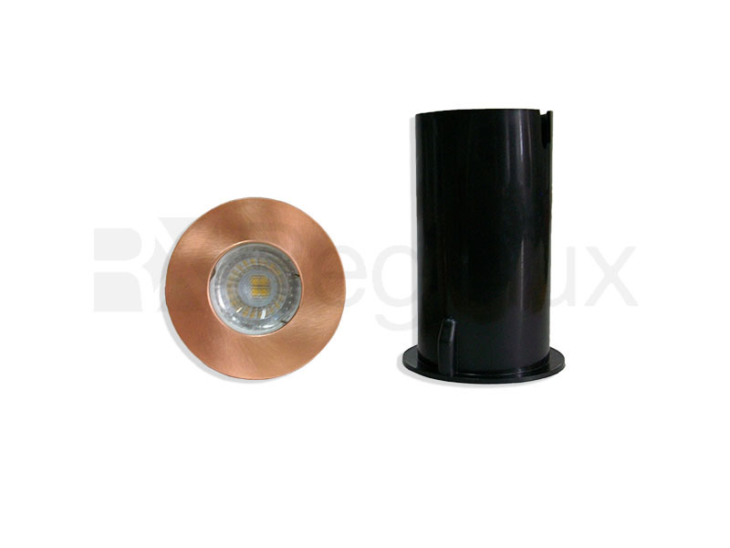RHINO GU10 In Ground IP65 Deck Uplight in Copper and Stainless Steel