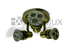 SMS3GZ10 Surface Mount 3x Spot 50W Max GU10 (IP20 or IP44) Antique Brass