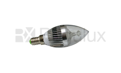 CL4. 4w LED Candle Lamp. Clear Lens