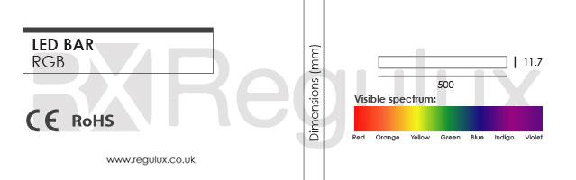 LED Bar. RGB. 24v Dimensions