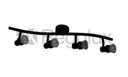 BOW4 Wavy Bar Wall Bar Surface Mount 4xSpot 50W Max GU10
