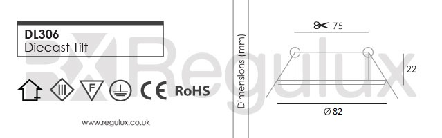 dl306 Downlight Dimensions