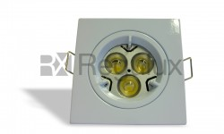 DLLRSQ Lock Ring Square Downlight Diecast