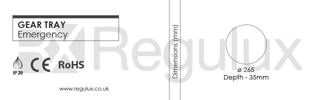 EMG28KIT - Circular 28w 3hr Emergency Gear Tray