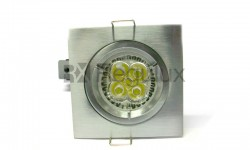 Fixed Diecast Aluminium Fire Rated Downlight Square