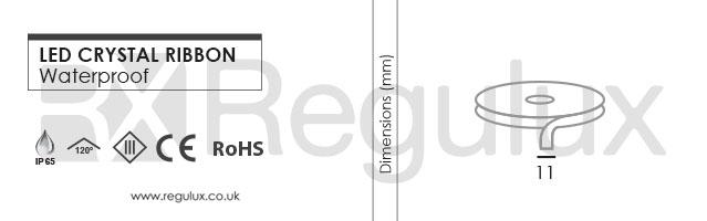 Flexible Ribbon LED Strip 12v IP65 Dimensions