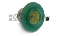 GDLSWIRLG Glass Swirl Downlight Green