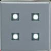 LED Plinth Light Brushed Chrome 4 LEDs White