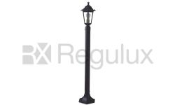 Victorian Lantern Head & Pole 122cm in Cast Aluminium