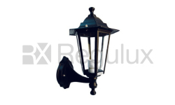 Victorian Lantern Up Lighter, Cast Aluminium in Black