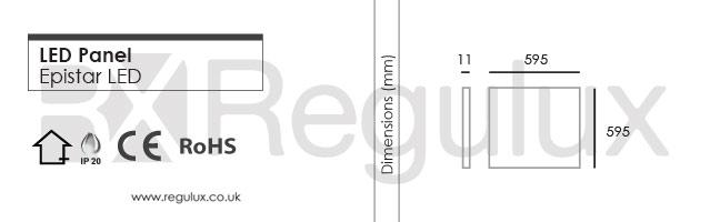 PAN-P40/32. Led Panel. Dimensions