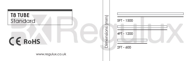 LT82F. T8 LE Tubes. 2ft. 4ft. 5ft. Economy & Classic Dimensions