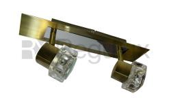 The TarkaSpot2 – Ice Cube Glass Shade Wallbar x2